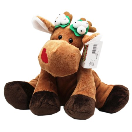 Morris Mistletoe Kissing Christmas Reindeer Plush Toy - By Ganz (9in)