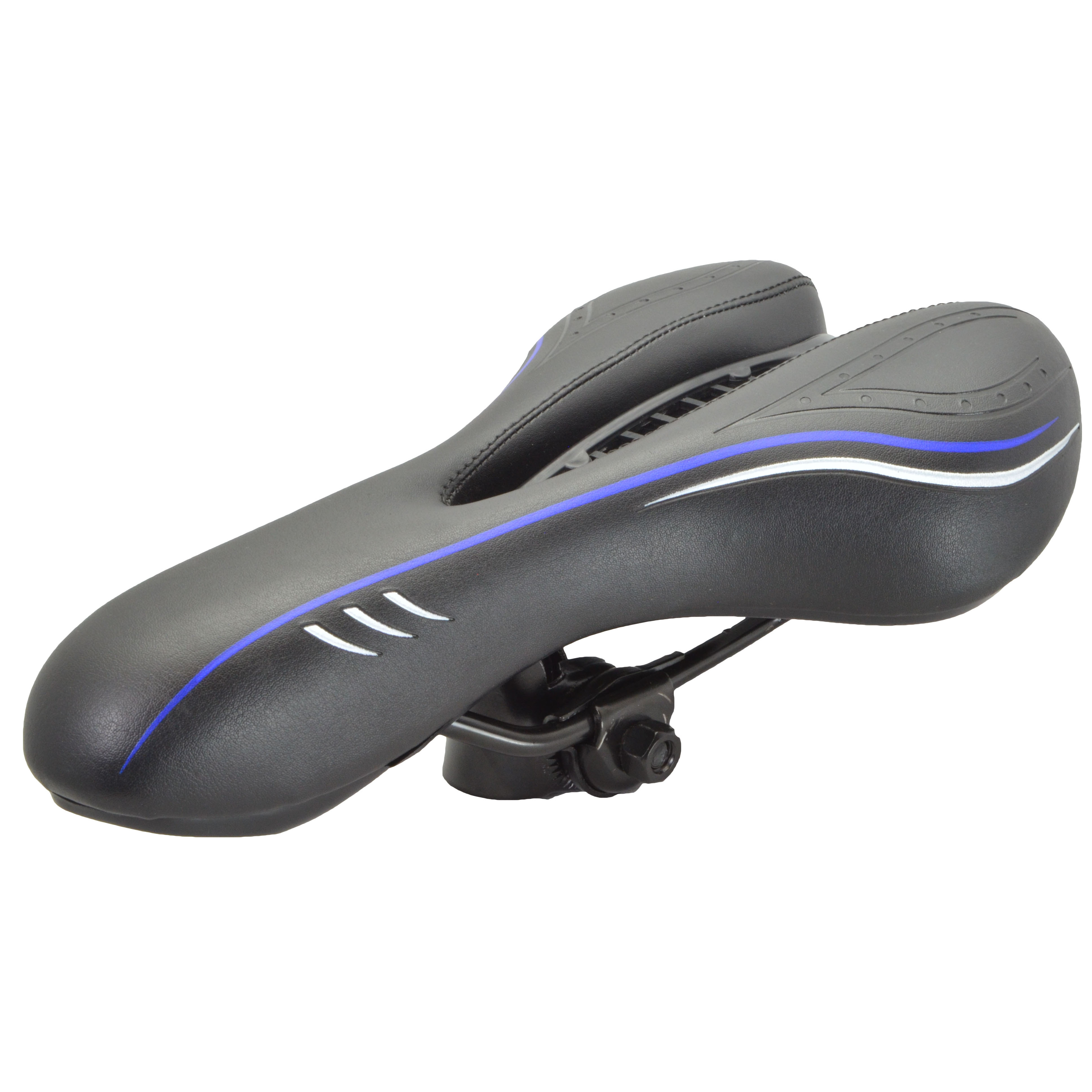 Lumintrail Comfort Vented Sport Bike Saddle Airflow Bicycle Seat with Built-in Protective Cover