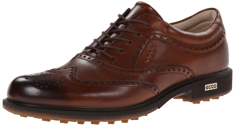 ECCO Men's Tour Hybrid Wingtip Golf Shoes Walnut (42.0 EU   8-8.5M US) by