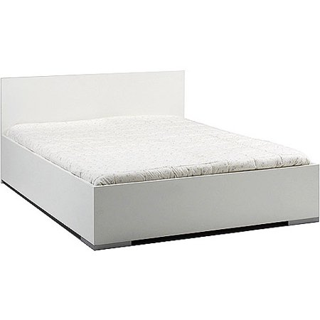 west end queen floating platform bed white