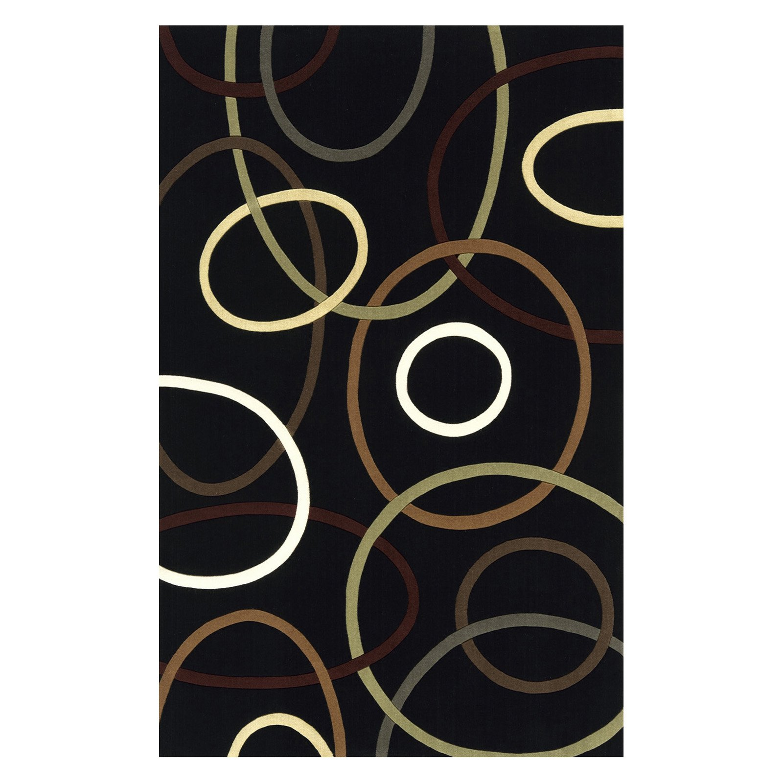 Momeni Elements Circular Envy Black EL-09 Rug-8 x 11 ft. by Momeni