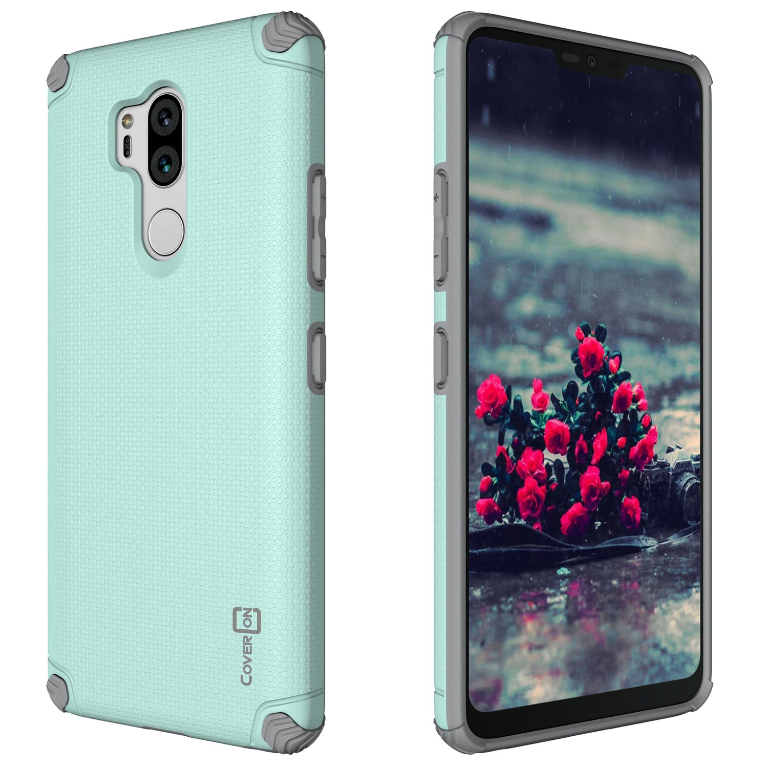 LG G7 case Hard Shell with Card Holder /& Magnetic Car Mount Slim Heavy Duty Bumper Protective Cover