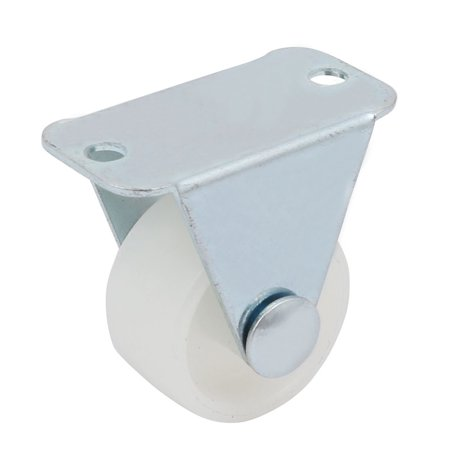 Unique Bargains 1-inch Diameter PP Wheel Rigid Top Plate Fixed Rolling Caster Roller Spare (Rigid Rolling Chassis)