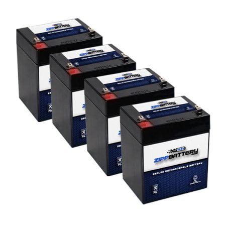 12V 5AH Sealed Lead Acid (SLA) Battery - T1 Terminals - for ZB-12-5 (4 (12v 3-2 Ah Sealed Lead Acid Battery)