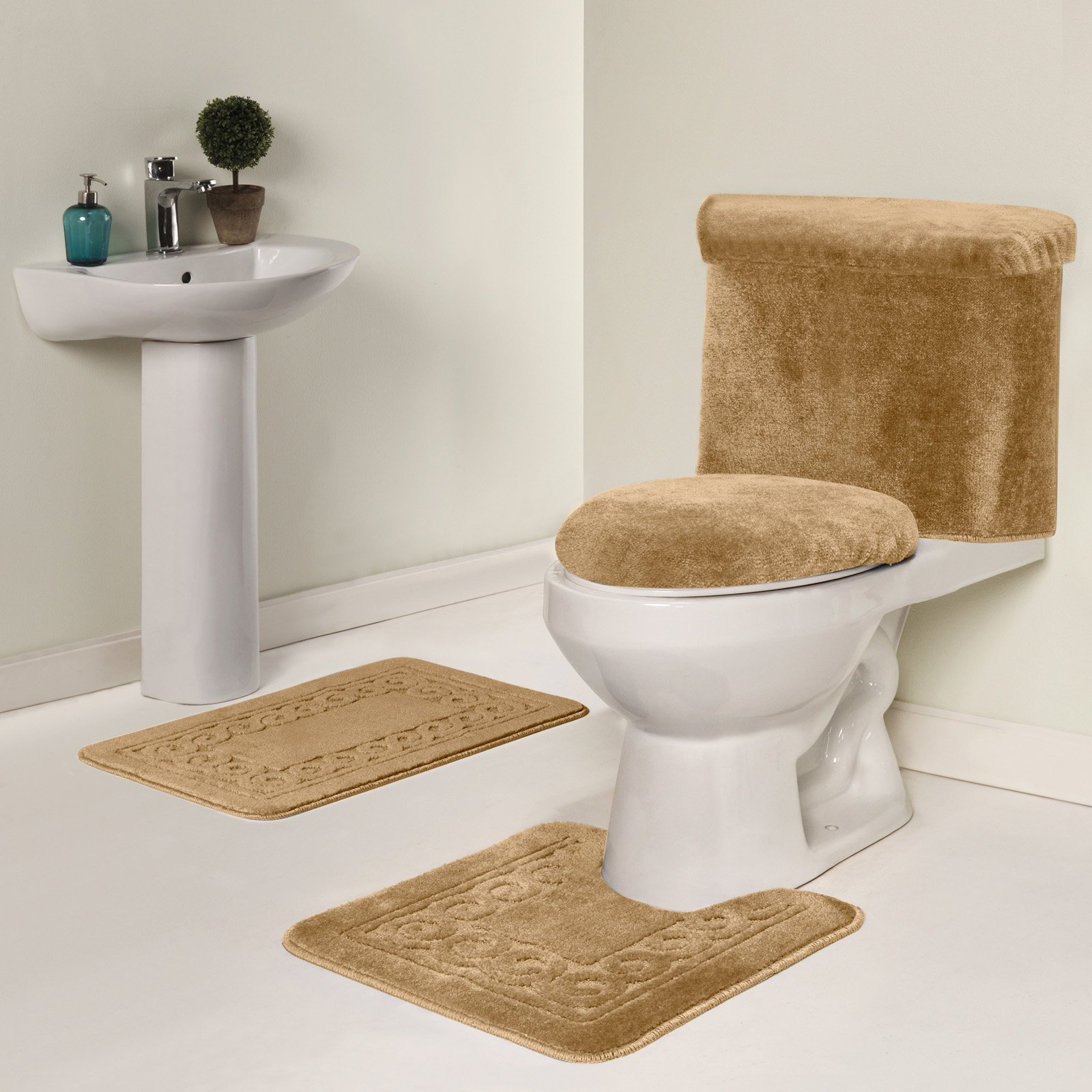 Madison Industries Scroll 5 Piece Bath Rug Set