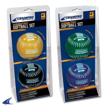 Weighted Training Softballs Advanced Training Set 11 & 12 oz Balls