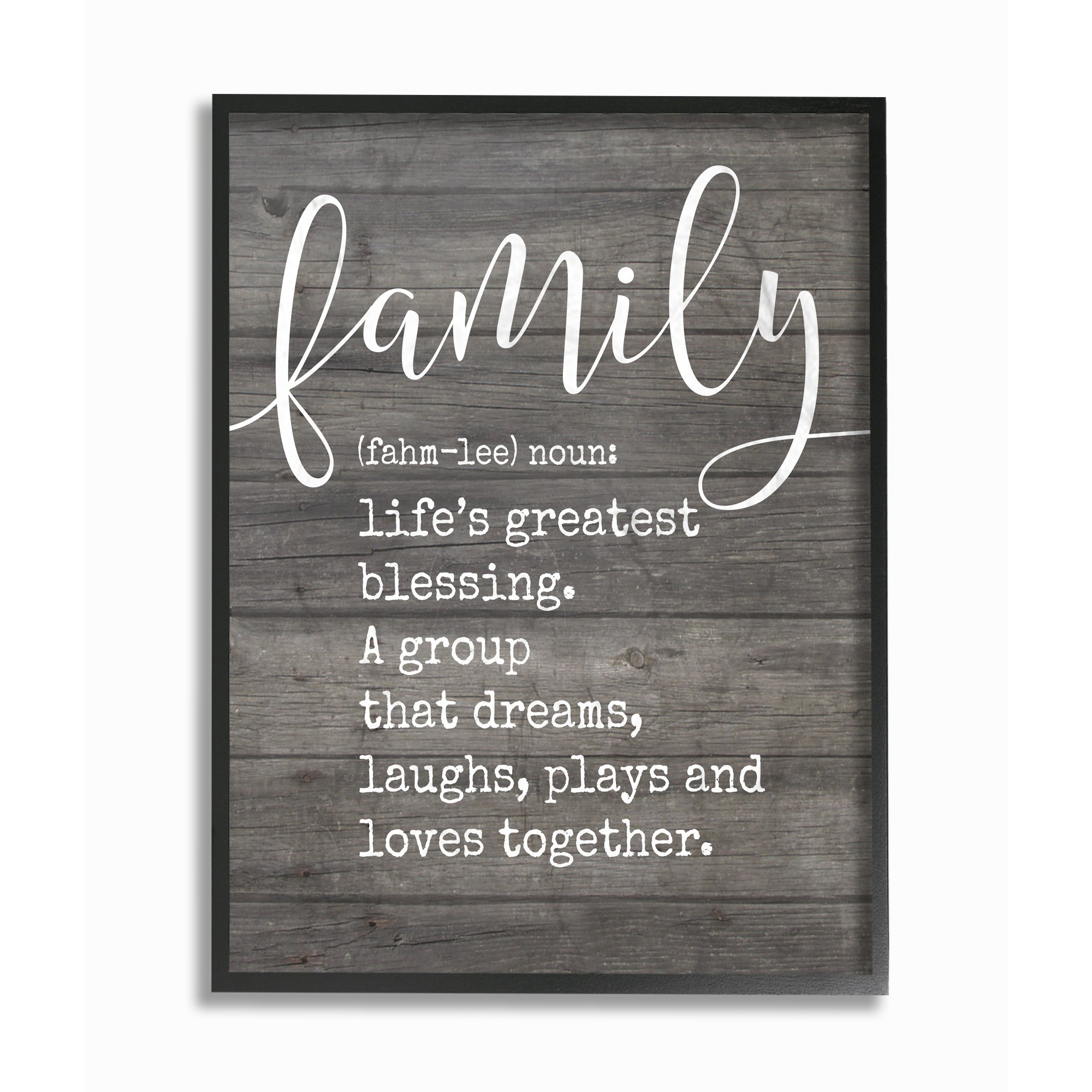 The Stupell Home Decor Collection Family Definition