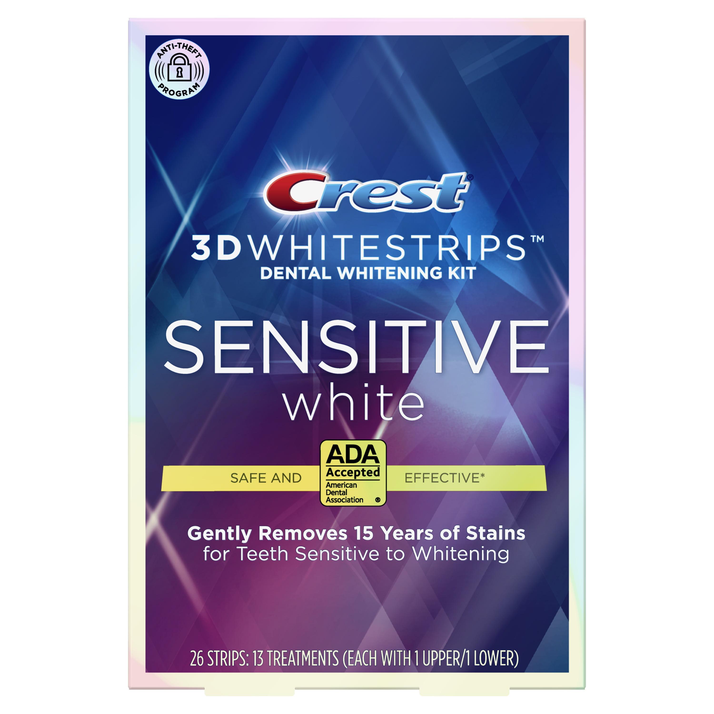 Crest 3d Whitestrips Sensitive White Teeth Whitening Kit 26