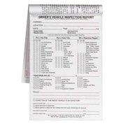 Jj Keller 8253 2 Ply Driver Vehicle Inspection Form, Carbonless