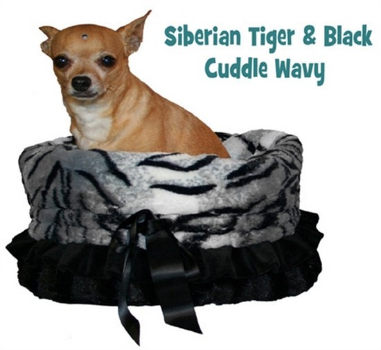 Mirage 500-040 Siberian Tiger Reversible Snuggle Bugs Pet Bed Bag/Car Seat