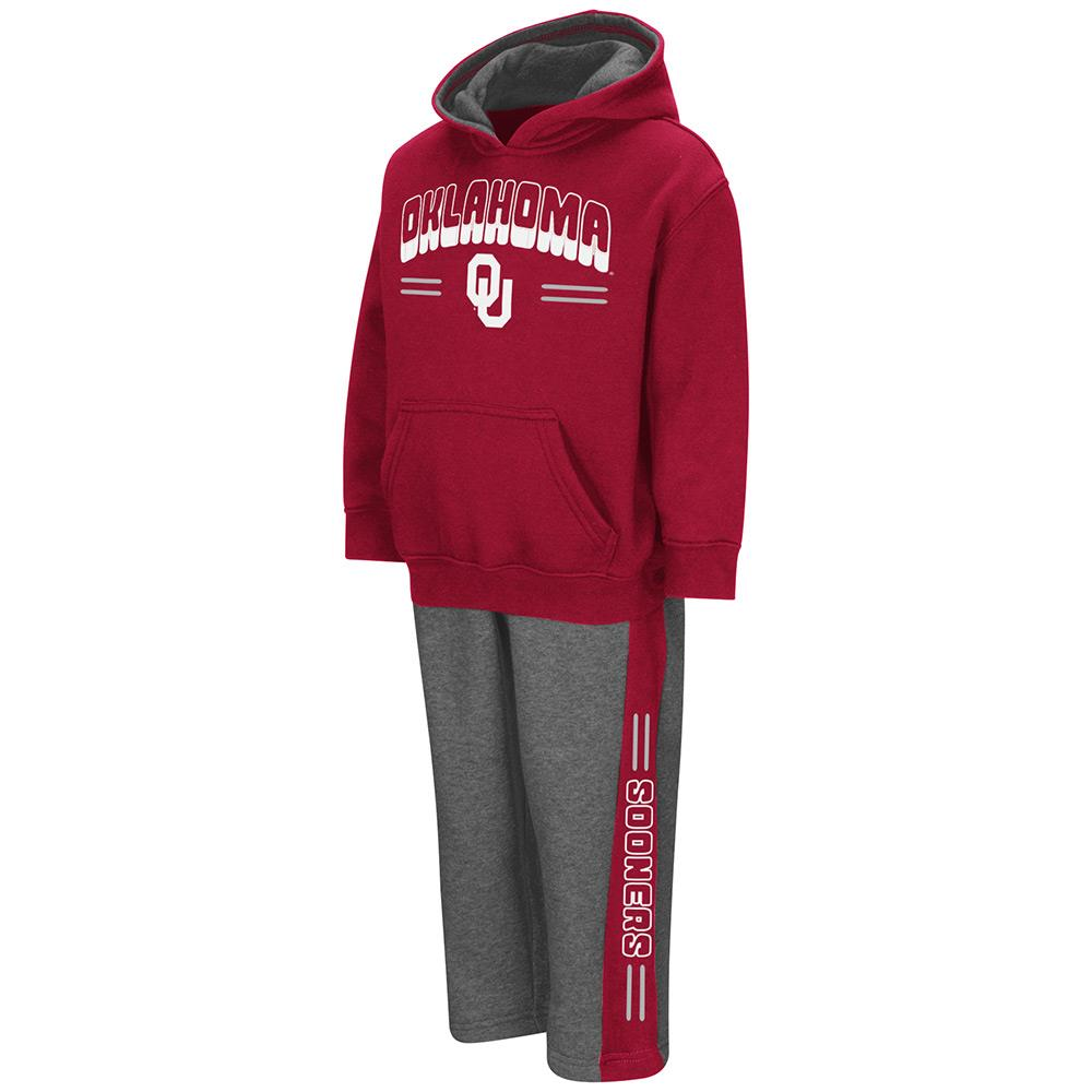 Toddler NCAA Oklahoma Sooners Boys Punter Fleece Hoodie and Sweatpants Set (Team Color) by Colosseum