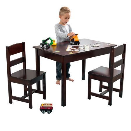 KidKraft Rectangle Table & 2 Chair Set - Espresso