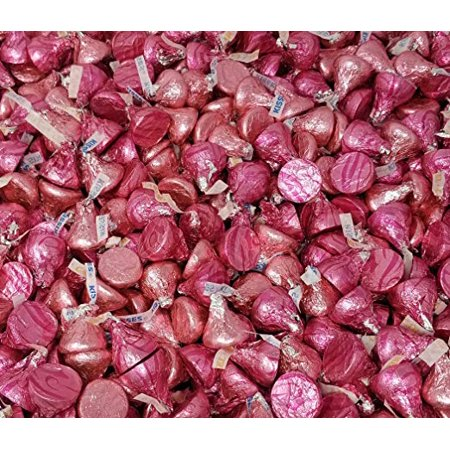 It's a Girl Candy Assortment - Hershey's Kisses Caramel Filled, Hershey's Kisses Milk Chocolate Pink Foil Wrap, Wedding Kisses Candy Bulk 2 Pounds Bag - Hershey Kisses Halloween Recipes