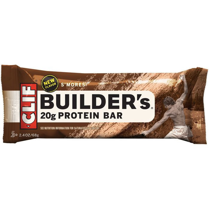 CLIF Builder's S'mores Protein Bar 2.4 Oz  (Pack of 12)
