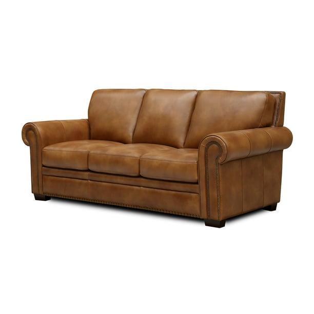 Toulouse Top Grain Leather Sofa, Grain Leather Sofa