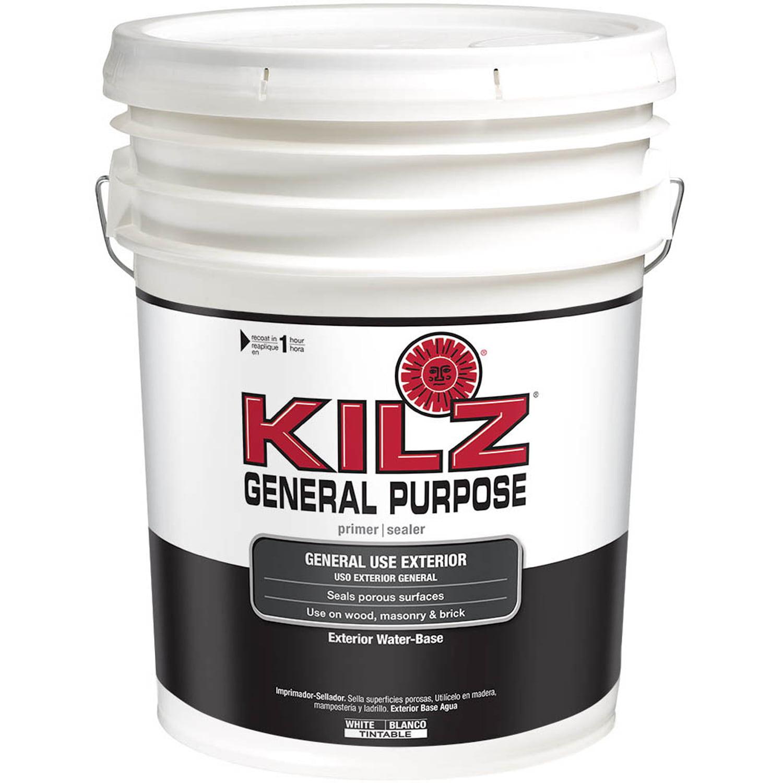 Kilz General Purpose Exterior Water-Base Primer, 5 Gallon
