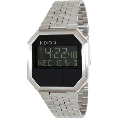 Nixon Men's Re-Run A158000 Digital Stainless-Steel Quartz Fashion Watch