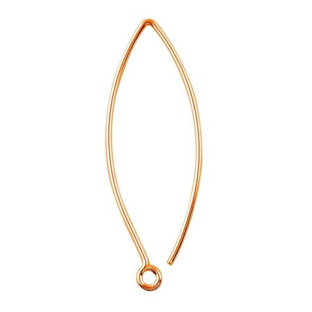 FRG-109-56MM Rose Gold Overlay 20 Gauge Marquise Shape Elegant Clean Wire Simply The Best Stylish