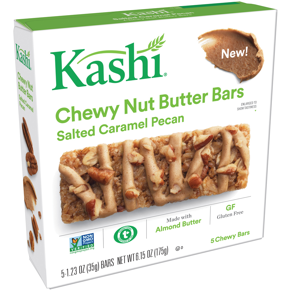Kashi Salted Caramel Pecan Chewy Nut Butter Snack Bars 1.23 oz. 5 Ct