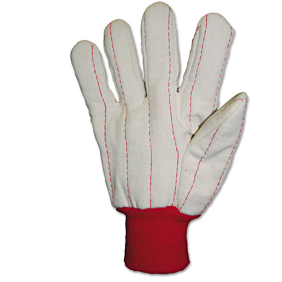 Anchor Brand - 2000 Series Leather Palm Gloves, Gray/Green/Red
