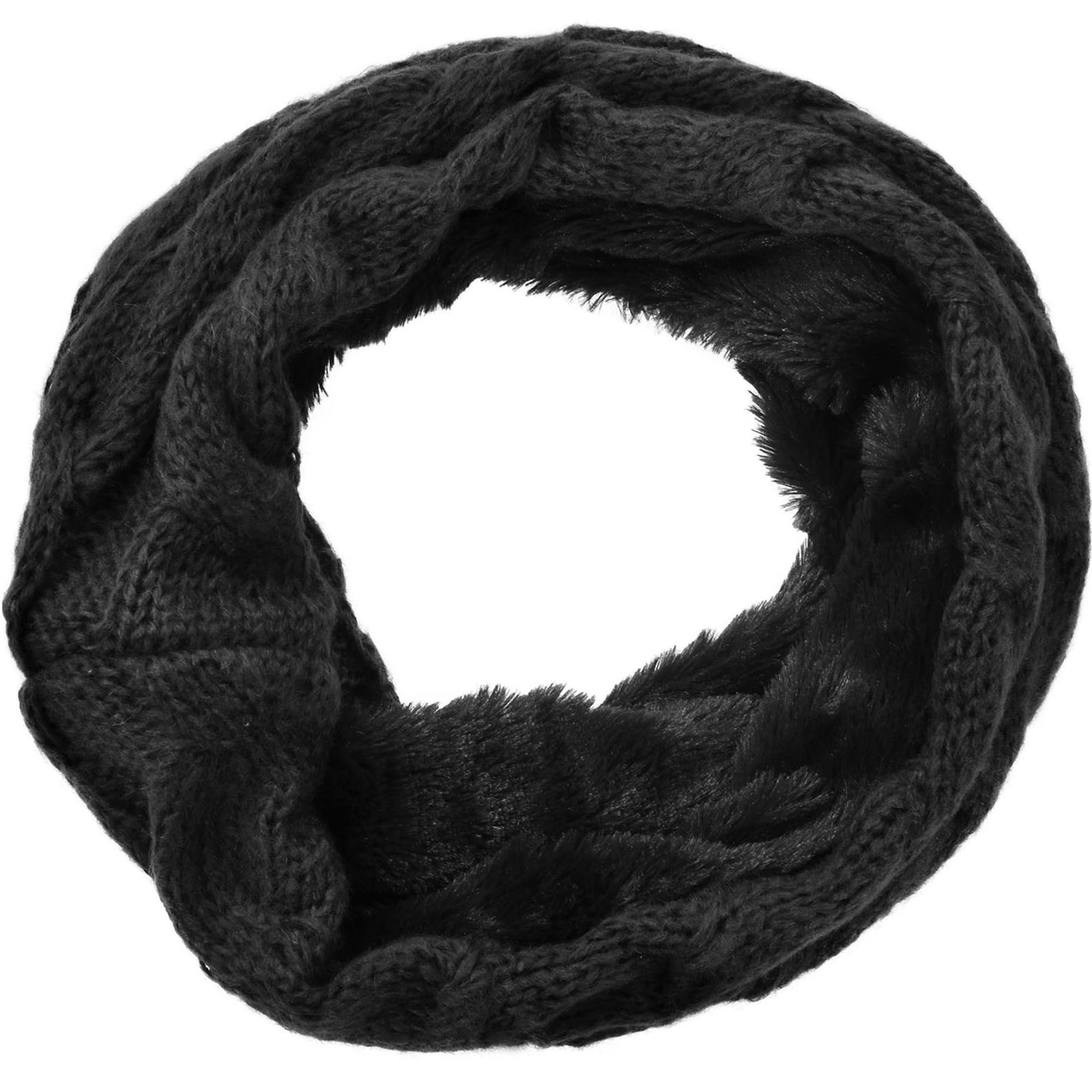 Women's Winter Knit Neck Warmers Fuzzy Cowl Snood Infinity Scarves, Only Scarf 3