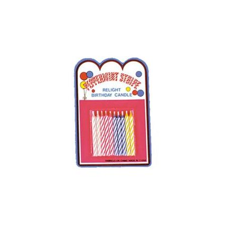 Loftus Magic Trick Relighting Birthday Candles 10CT Assorted Colors