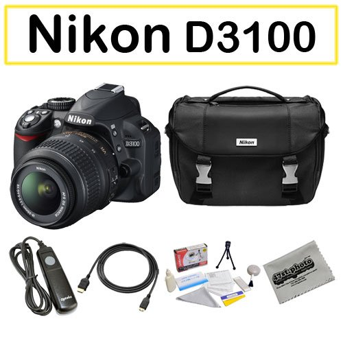 Shooter Package Featuring the Nikon D3100 Digital Camera, Opteka Shutter Release Remote and More