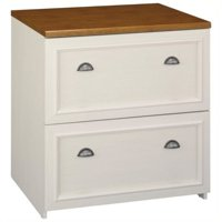 Bowery Hill 2 Drawer Lateral File Cabinet in Antique White