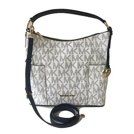 01ff19fefcad Michael Kors - Michael Kors Anita Large Convertible Shoulder Bag Navy White  (35S7GA8L7B) - Walmart.com