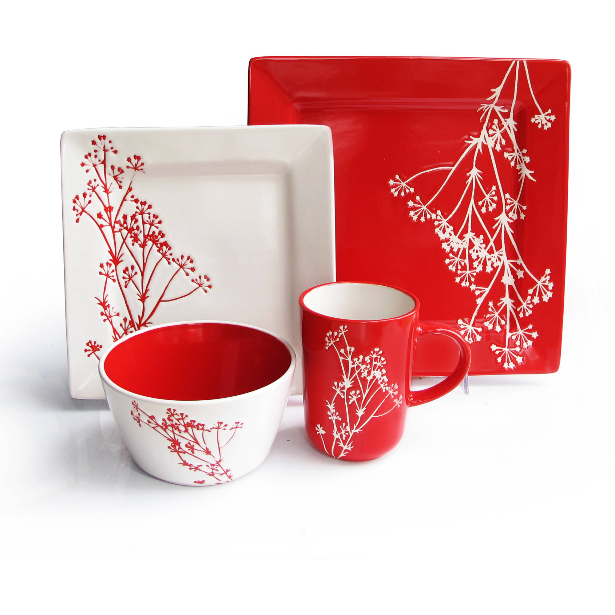 Blossom Branch 16-Piece Dinner Set