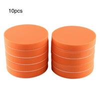 LYUMO 10Pcs 6 (150mm) Sponge Polishing Buffing Waxing Pad Kit Tool For Car Polisher Buffer Orange, Polisher Buffer Pads,Polishing Pad
