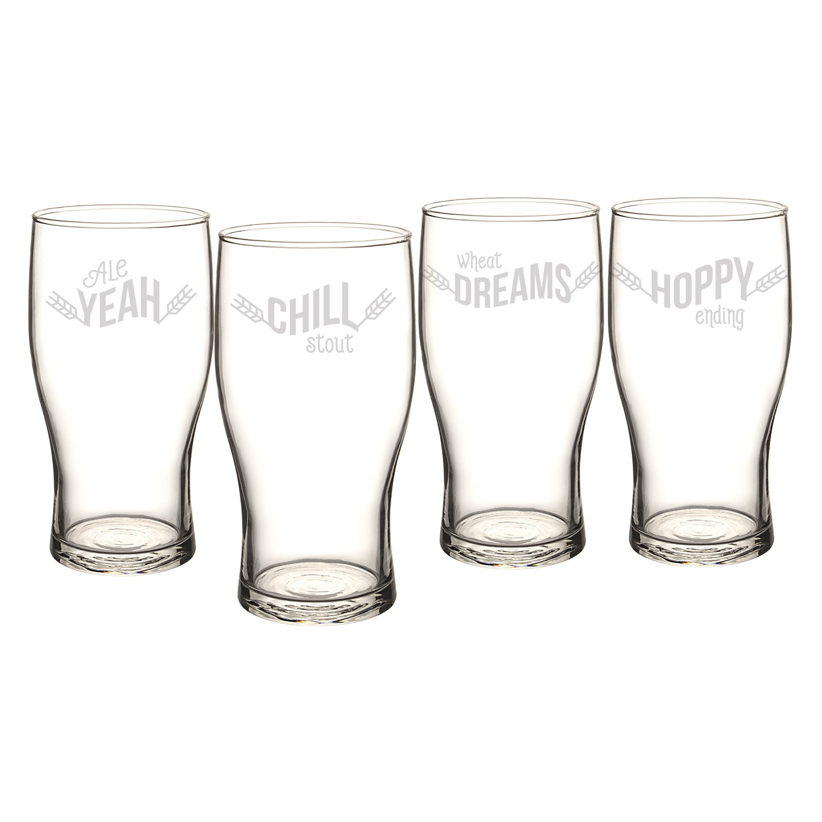 Cathys Concepts Pilsner Glasses - Set of 4