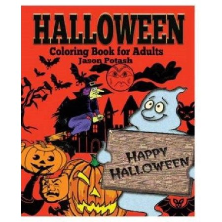Halloween coloring book for adults Coloring book for adults walmart