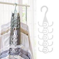 FAGINEY Clothing Hanger Rack Closet Organizer for Ties Belts, Clothing Hanger, Scarves Hanger