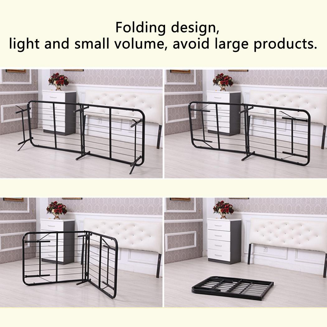 Twin Size Metal Folding Platform Bed Frame Base Mattress Foundation,Black SPHP