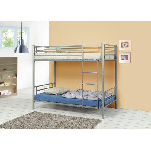 Harriet Bee Almendarez Metal Twin Over Twin Bunk Configuration Bed