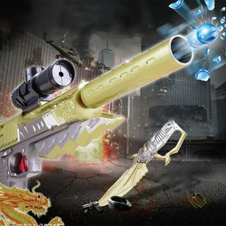 Yellow & Grey Desert Eagle Gaming Game Handgun Model Kids Toy Gun Electric Bullet Gun Bursts Of Water Children Gift S8204B