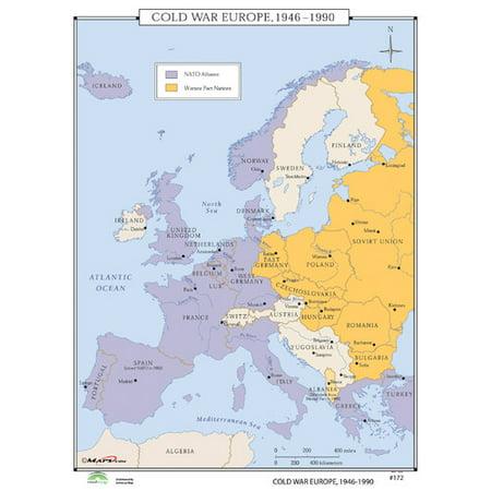Universal Map World History Wall Maps - Cold War Europe - Walmart.com