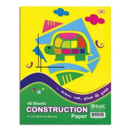 Colored Construction Paper ((Price/Case of 48)Bazic Products 554-48 48 Ct. 9