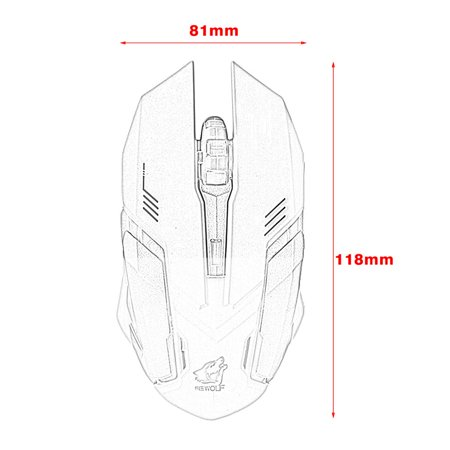 2.4GHz Wireless Rechargeable USB Optical Mouse Ergonomic