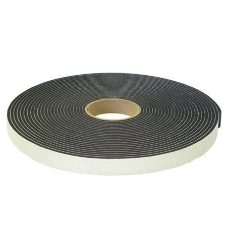"""2"""" (48mm) Single Sided PVC Foam Tape - Low Density ,Black [12 Rolls]"""