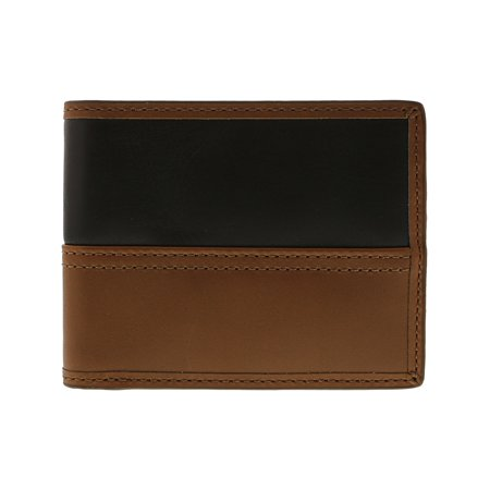 Fossil Men's Tate Rfid Leather Bifold Wallet - Cognac