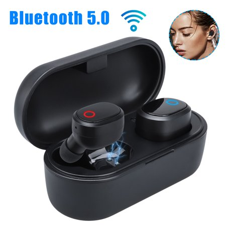 True Wireless Earbuds, EEEKit TWS Bluetooth 5.0 Mini Earbuds HD Sound In-Ear Noise Cancelling Earphone with Mic, Charging (Best Sound Cancelling Earphones)