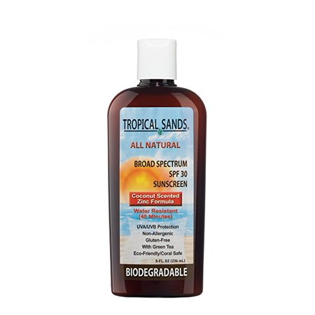 All Natural Spf 30 Sunscreen Reef Safe By Tropical Sands 8 Fl Oz Walmart Com