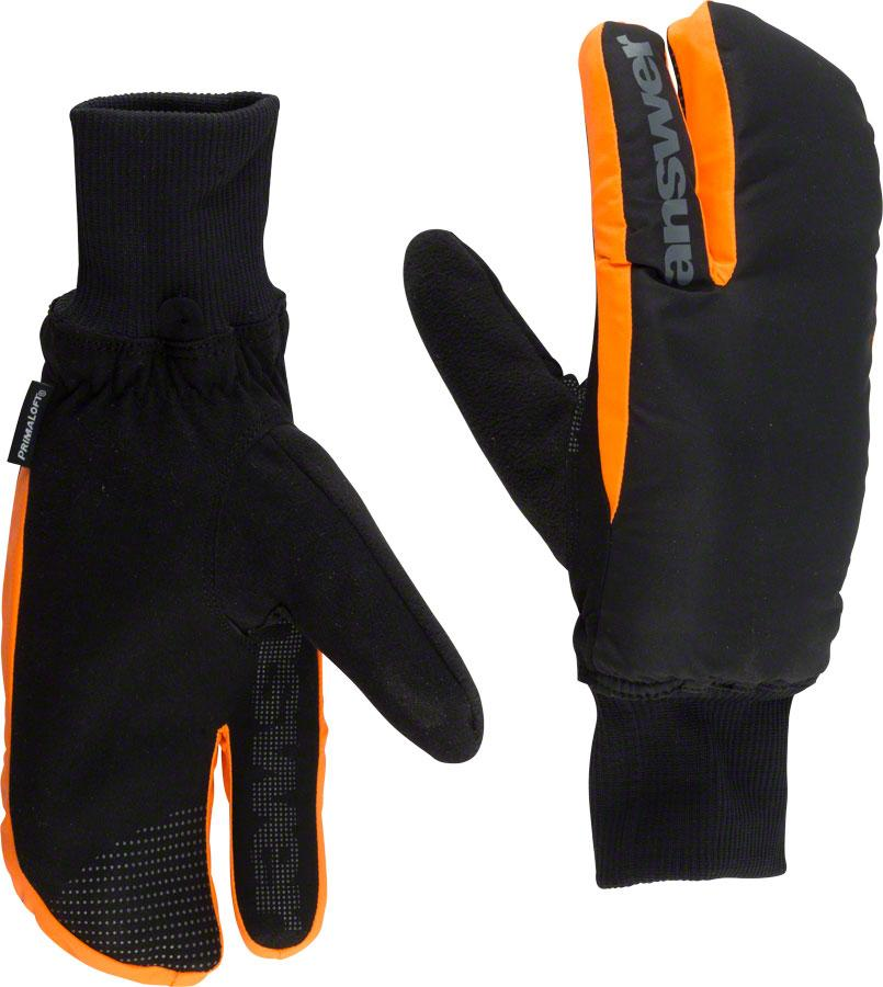 Answer Sleestak Winter Mitt: Black Gray MD by Answer Products