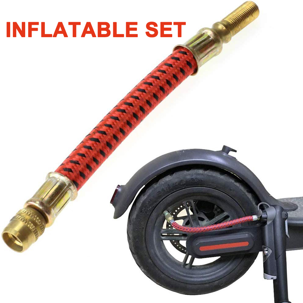 11pcs//set Tire Pump Extension Hose Air Needles Bike Pump Inflator Connector Kit