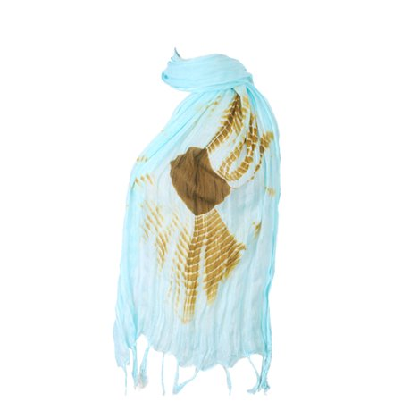 Amtal Women Tie & Dye Ombre Lurex Oblong Soft Casual Viscose Scarf w/