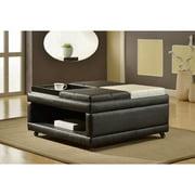 Roundhill Furniture Loire Open Shelf Ottoman