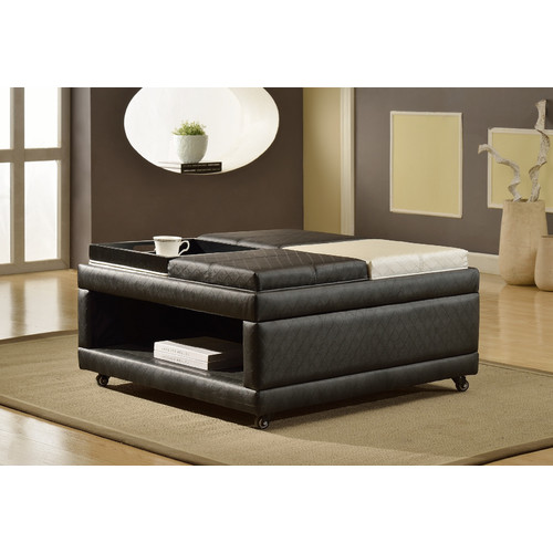 Roundhill Furniture Loire Open Shelf Ottoman