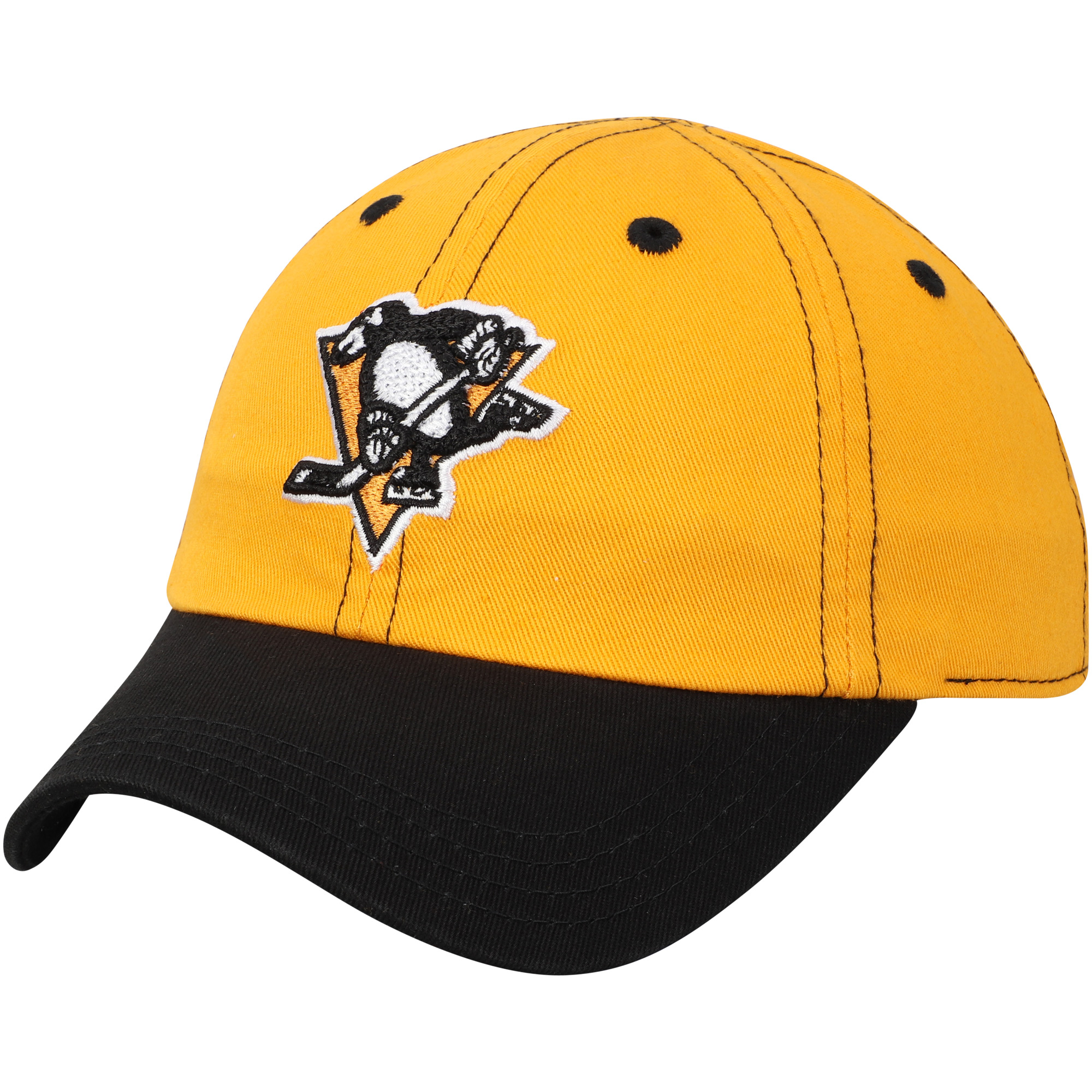 Pittsburgh Penguins Infant Chainstitch Slouch Adjustable Hat - Gold/Black - OSFA